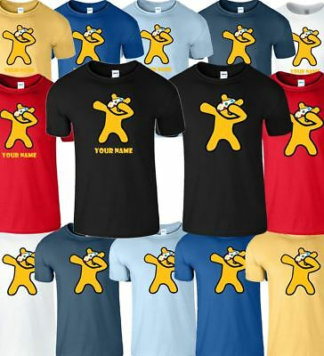 Personalised Dab Spotty Kids T-Shirt Children In Need School Mens Womens T-Shirt