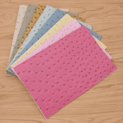 29X21cm Synthetic Imitation Embossed Ostrich Fabric Raw Material PVC PU Leather