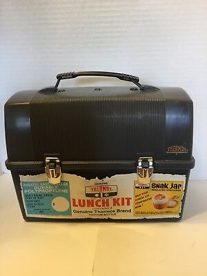 Vtg Genuine Thermos Brand Lunch Box With 14.4oz Vacuum Bottle NOS