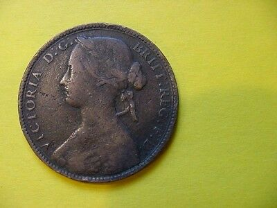 1860  Great Britain Penny  F
