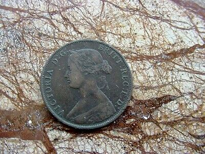 1861 Great Britain Halfpenny   VF
