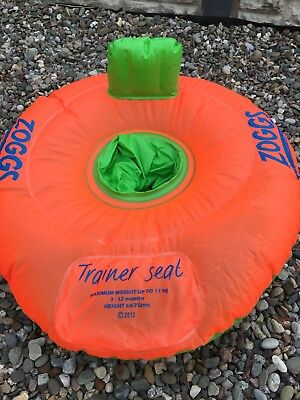 Zoggs baby inflatable swimming trainer seat 3-12 months