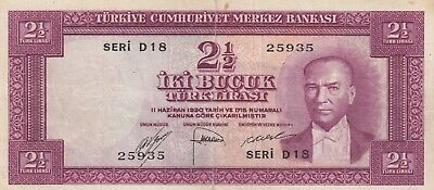 Turkey, 2,5 Liras, 1952, XF, p150
