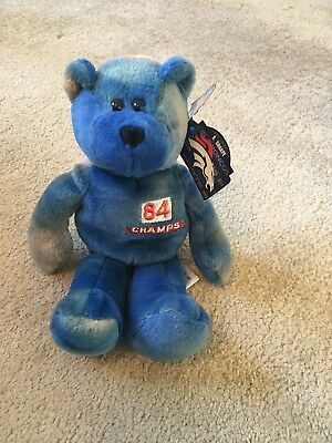 b289ce66fc50fe Limited Treasures Pro Bears Denver Broncos - 84 SHARPE - Blue Beanie Baby -  1998