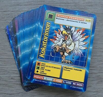 Lot 70 cartes Digimon