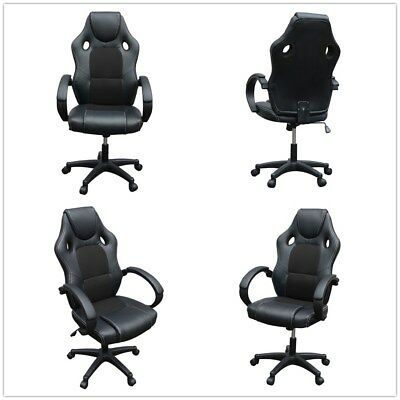 Executive Office Chair Sports Racing Gaming Swivel PU Leather Computer Work Desk