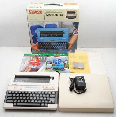 Vintage Canon Electric Typewriter Typemate 10 with original box, Manual, and ink