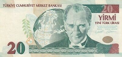 Turkey, 20 New Liras, 2005, XF, p219