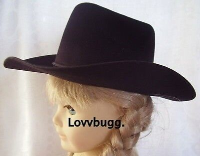 "Black Cowboy Hat for American Girl 15"" 18"" Doll Clothes Lowest Total at Lovvbugg"