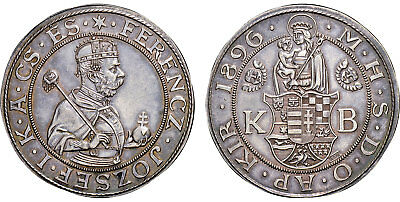 HUNGARY 1896 KB AR Thaler NGC MS63 100 pieces minted Light attractive toning.