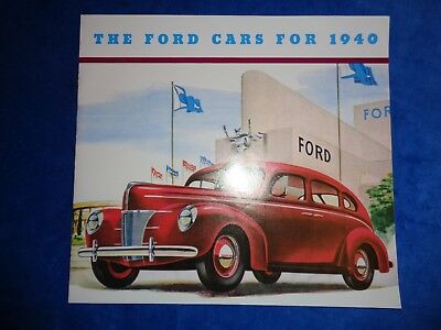 1940 Ford Large Sales Booklet