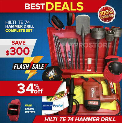 Hilti Te 74 Hammer Drill,Preowned,Free Smart Watch, Bits & Extras, Fast Ship