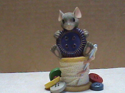 """Charming Tales Mice,"""" YOUR CUTE AS A BUTTON  """" figurine 89/115 33"""