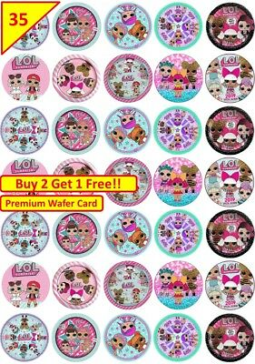 35 x LOL DOLLS Edible Cup Cake  Birthday Boy Kids Fairy Toppers Party Premium