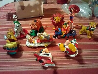 Huge Lot Of 20 Disney Christmas Ornaments