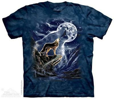 Wolf Spirit Full Moon Howling The Mountain T-Shirt (1293) All Sizes
