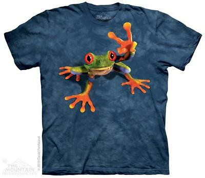 Victory Frog Tree Frog Giving Peace Sign The Mountain T-Shirt (3118) All Sizes