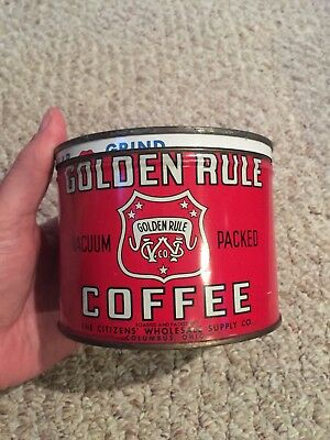 Vintage Golden Rule Coffee Tin
