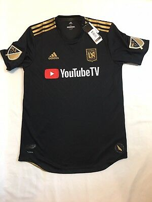 adidas LAFC Authentic Home Jersey 2018 Black Gold Size M Carlos Vela c359b4a53