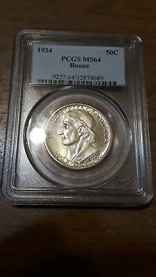 1934 PCSG MS64 Boone Commemorative Half Dollar/ MS 64 / 50 Cents