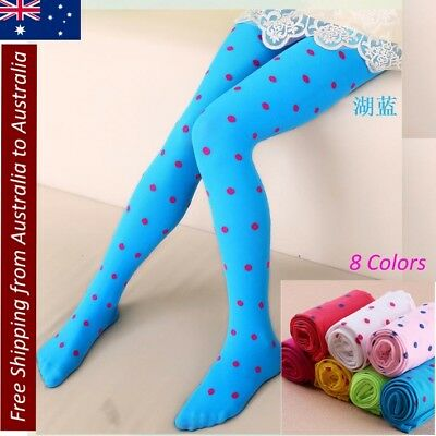 NEW Full Foot Stockings Tights Cute Clothing Girls Tights Kids Dots Velvet candy