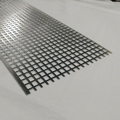 """Perforated Metal Aluminum Sheet 1/16"""" Thick 12"""" x 48"""" x 1/2"""" Square Hole"""