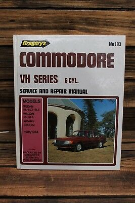 Gregorys Holden Commodore VH Series 6cyl 1981-1984 Service and Repair Manual 193