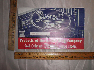 Antique 1936 Rexall Drug Stores Streamlined Souvenir Folder