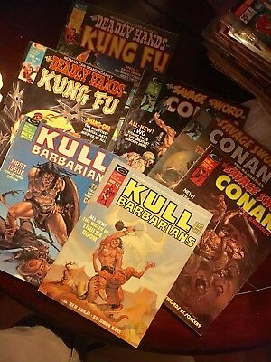 Bronze Age Comic Lot Kull And The Barbarians Savage Sword Of Conan Deadly Hands