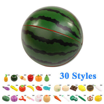Pretend Toy Play Fruits Vegetable Cutting Food Toys Magnetic Kitchen for Wooden