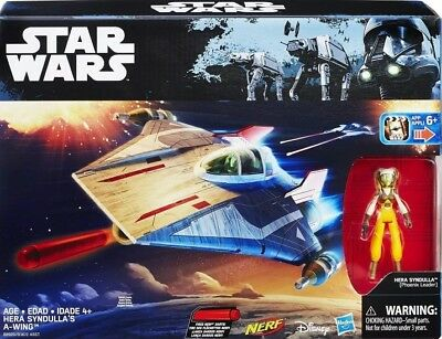 STAR WARS REBELS: HERA SYNDULLA'S A-WING with HERA (PHOENIX LEADER) - NERF