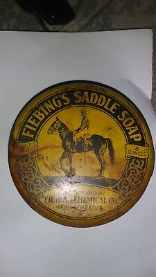 Vintage Tin Advertising for Fiebings Saddle Soap very old