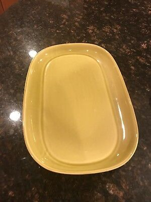 """Russell Wright Steubenville 13.5"""" Serving Platter Chartreuse Mid Century Modern"""