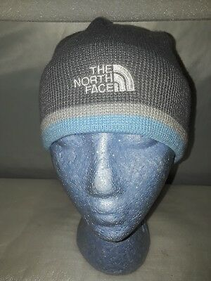 The North Face Gray Knit Beanie Cap Hat Unisex One Size Warm