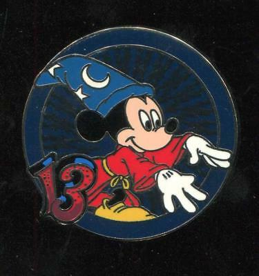 Mystery Collection Dated 2013 Sorcerer Mickey Circle Disney Pin 93934