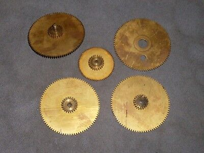 Vintage Industrial Machine Age Decor Lot of brass Gears Steampunk Altered Art NR