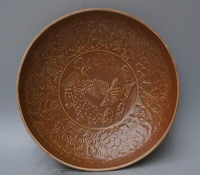 Chinese Exquisite Handmade flower Phoenix pattern porcelain plate
