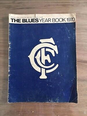 Original 1970 Premiership Year Blues Year Book Signed 3 Players.