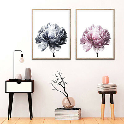 Modern Flower Wall Art Canvas Painting Picture Mural Poster Home Decoration