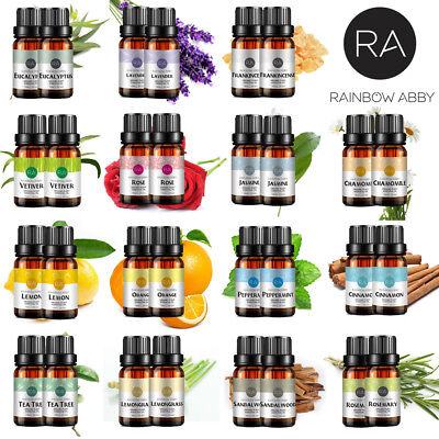 Essential Oils Pure 20ml Set Aromatherapy Rose Sandalwood Jasmine Chamomile US