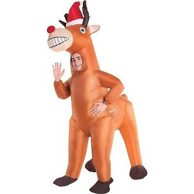 Adult Inflatable Christmas Reindeer Costume One Size * NEW