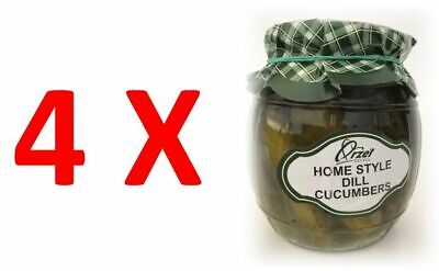 4X Home Style Dill Cucumbers in Brine by Orzel, Poland 4x450g