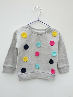 Girls Sweater Jumper PomPom by OUTFIT. NEW Age 12 18 Mths 2 3 4 5 6 Yrs RRP £16