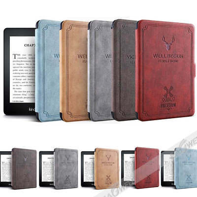 For Amazon Kindle 8th 2016 Kindle 558 Smart Retro Fold Leather Stand Case Cover