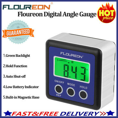Floureon Digital Bevel Box Gauge Angle Finder Protractor Inclinometer LCD Screen