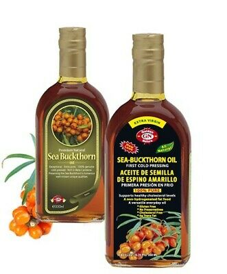 Extra Virgin Cold Pressed Sea Buckthorn Oil 100% Natural Non-Deodorized 100ml