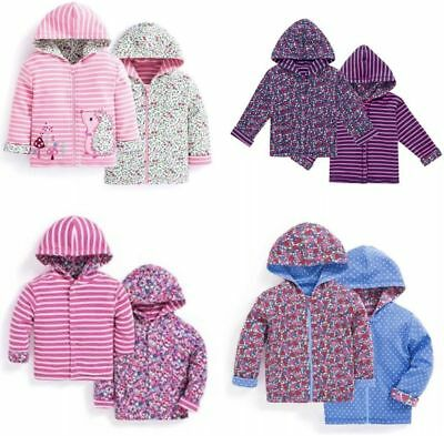 Girls Reversible Hoodie Jacket New JoJo Maman Bebe 0-24 Month 2- 6 Years RRP £21