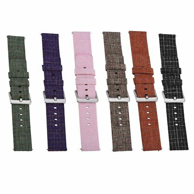 For Fitbit Versa Woven Fabric Canvas Wrist Strap Watch Band Stainless Buckle NEW