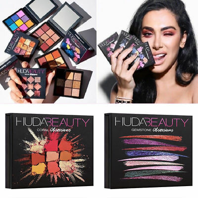 HUDA BEAUTY Obsessions Eyeshadow Palette Cosmetic Gemstone Topaz Emerald  Ruby