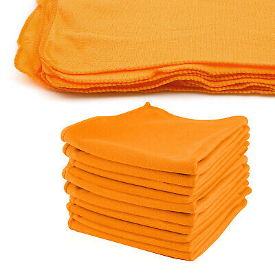 10 Large Soft Microfibre Car Drying Towel Detailing Cloth 40cm x 40cm